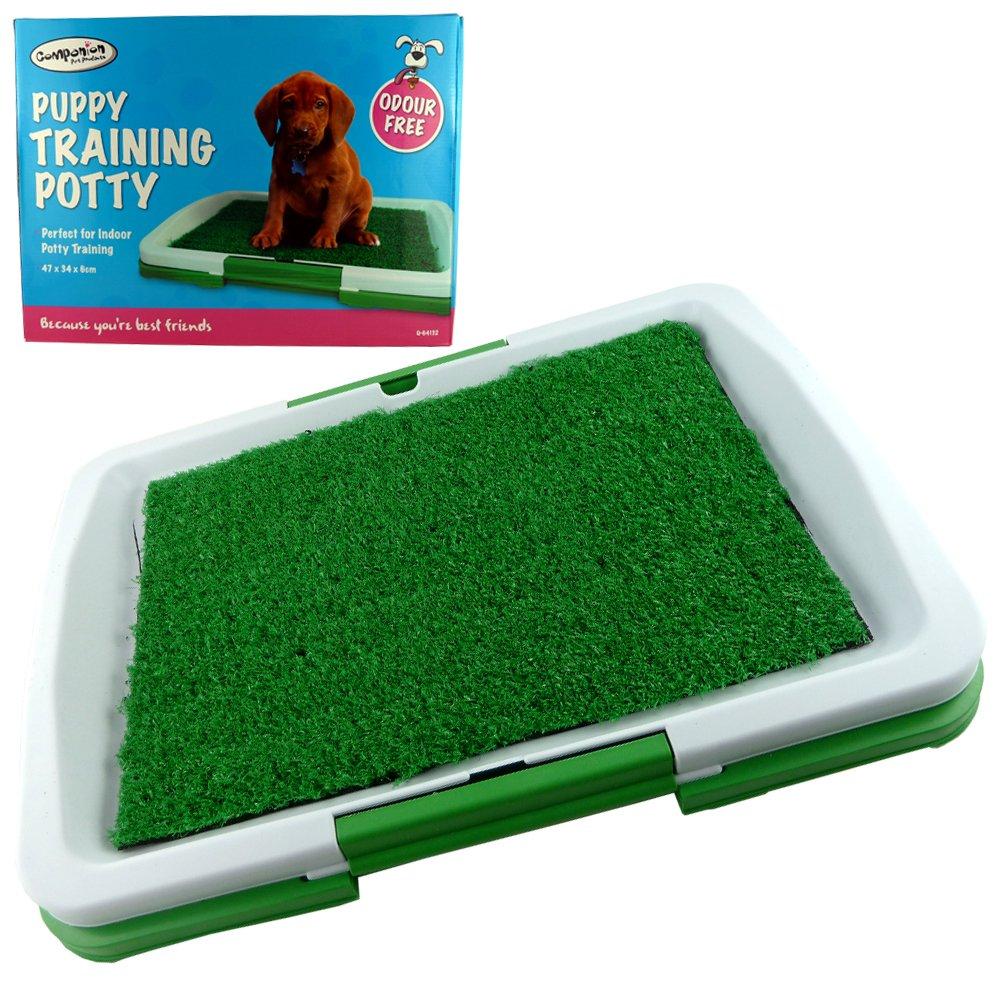 Interior Casa Perro - Orinal - Alfombrilla de entrenamiento de inodoro inodoro de bandeja - perfecto para interior Potty Training - 3 capas - Alfombrilla ...