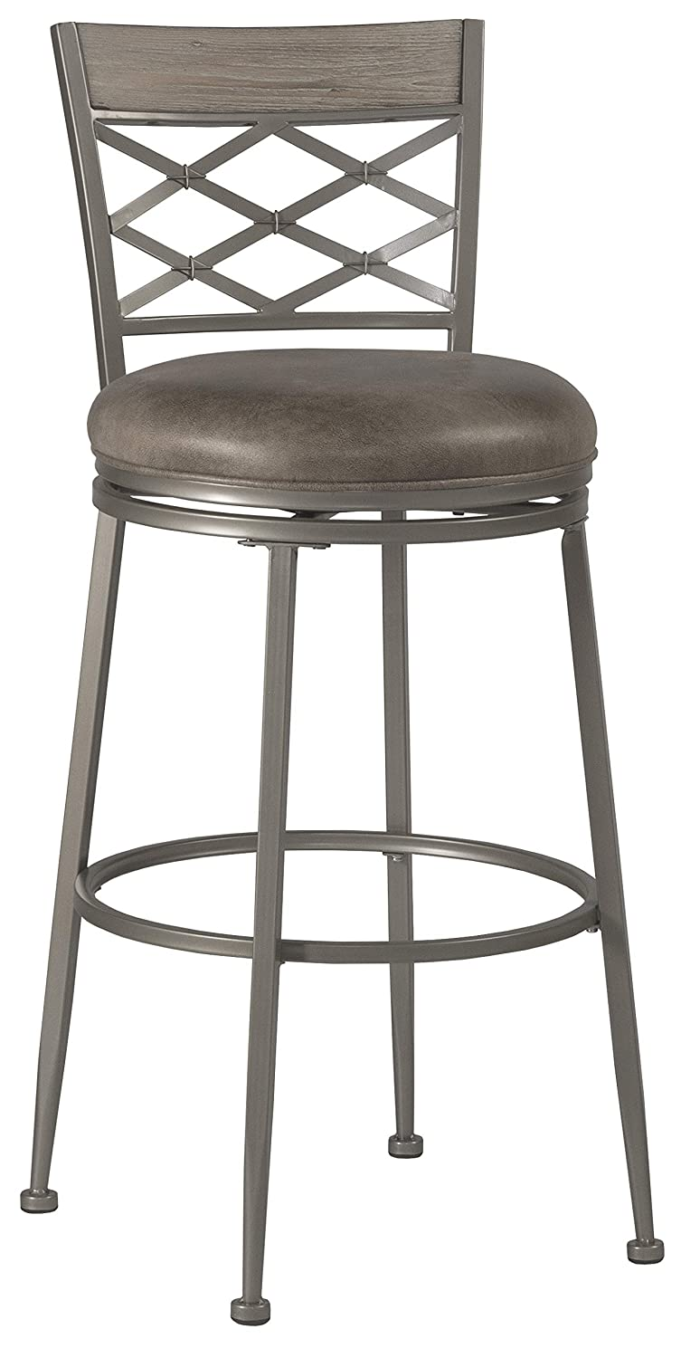 Hillsdale Furniture Hutchinson Stool, Counter, Pewter