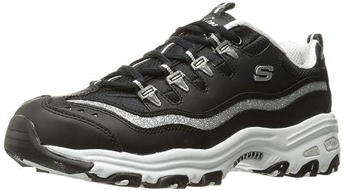 Skechers 11936 - Chaussures En Cuir Autre Femme, Couleur Noir, Taille 38