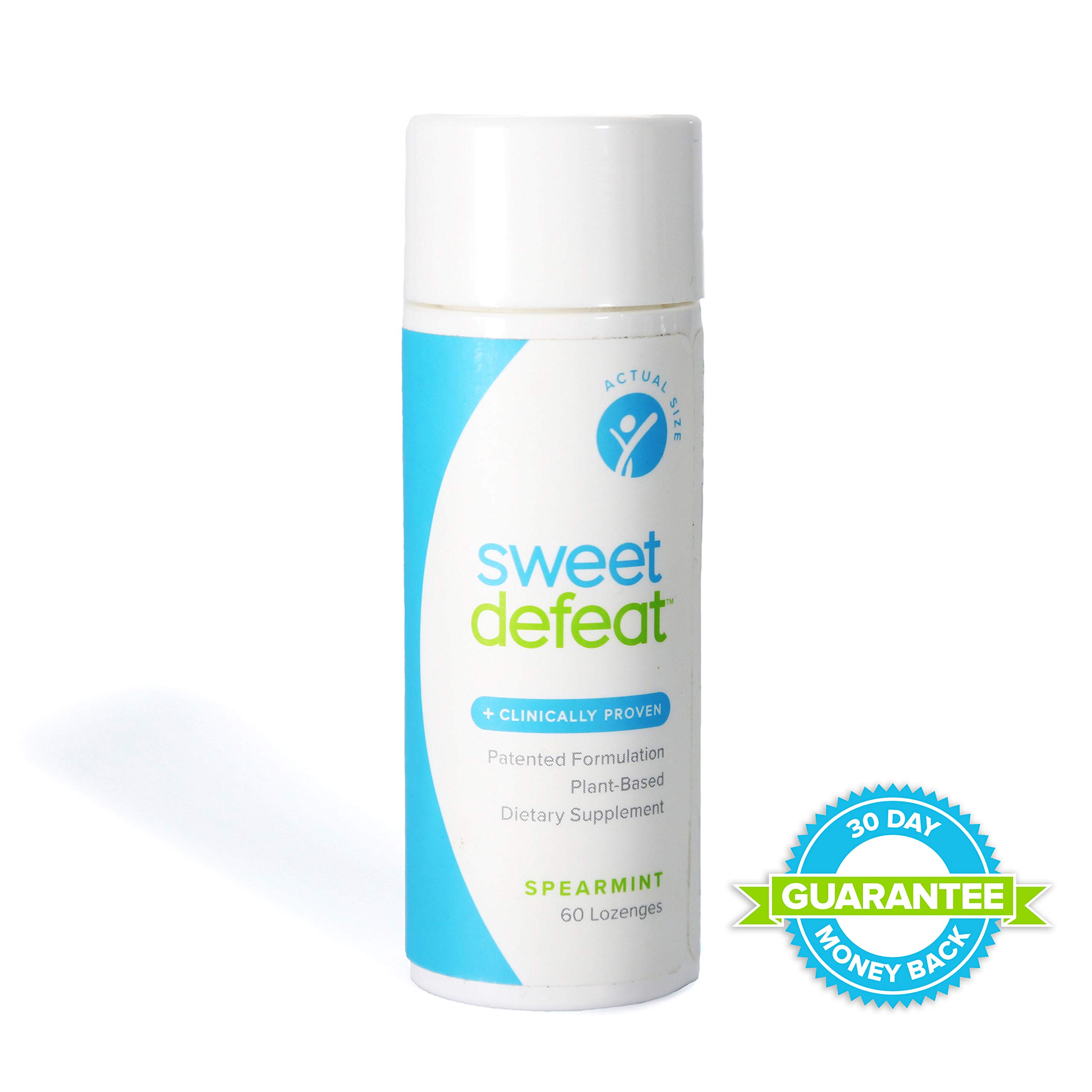 Sweet Defeat - Reduce Sugar Cravings in Seconds, Made with Natural Gymnema Sylvestre Extract That Controls and Reduces Desire for Sweet Food - 60 Lozenges ... ... by Sweet Defeat