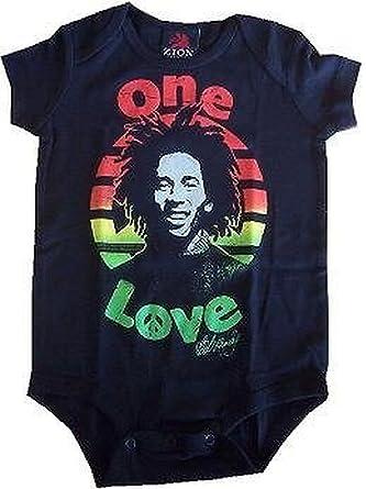 6136cbd63622 Amazon.com  Bob Marley - Peace Baby Romper T-Shirt  Clothing