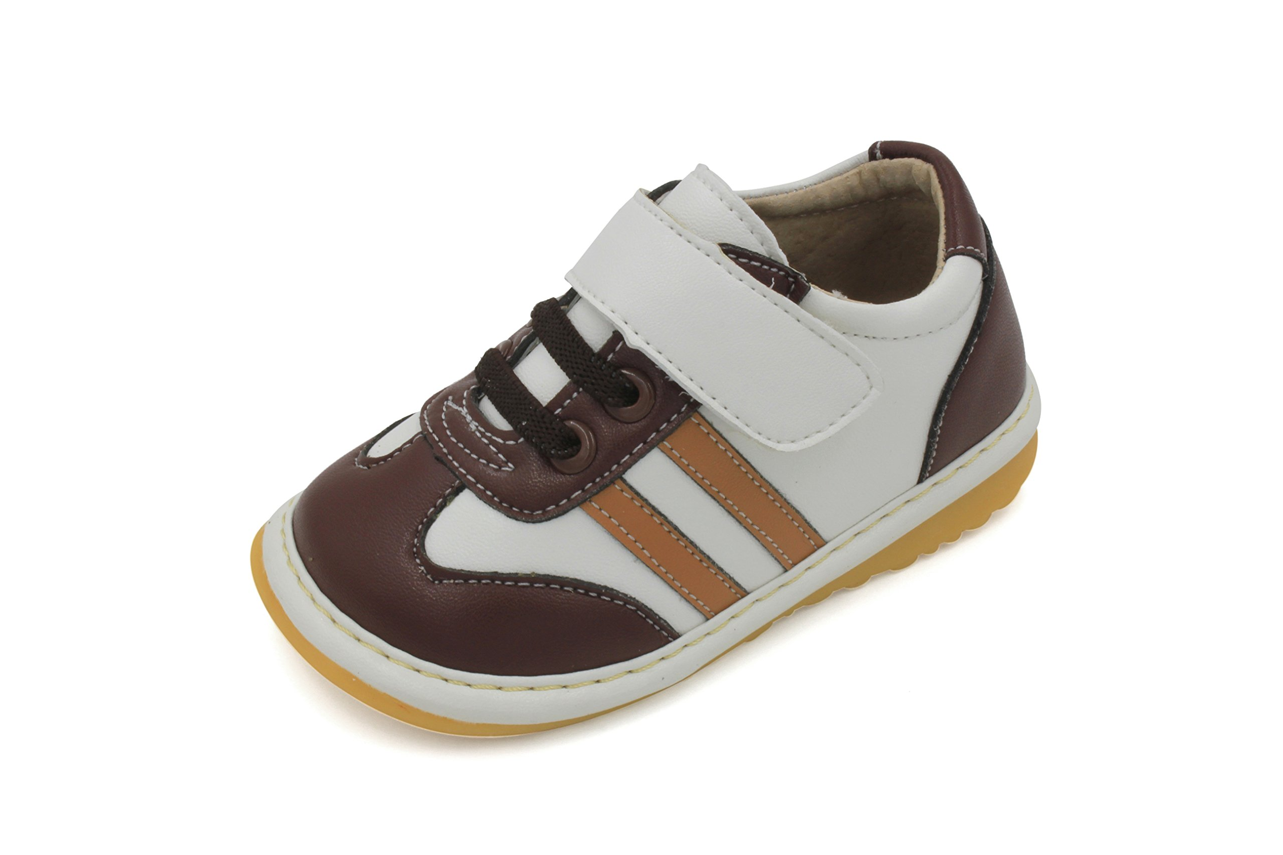 Brown and Tan Boy Sneaker Squeaky Shoes (5)