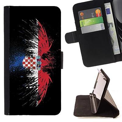 FJCases Croacia Bandera Croata Carcasa Funda Billetera con Ranuras para Tarjetas y Soporte Plegable para HTC U11