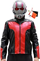 Men's Super Ant Leather Jacket Coat Costume for Halloween Stand Collar