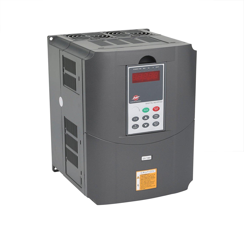 Chaneau 7.5KW 220V 10HP Variateur De Fréquence Transformateur VFD Vitesse Contrôlée Fréquence Inverseur 10HP Fréquence Inverseur Professionnel (7.5KW)