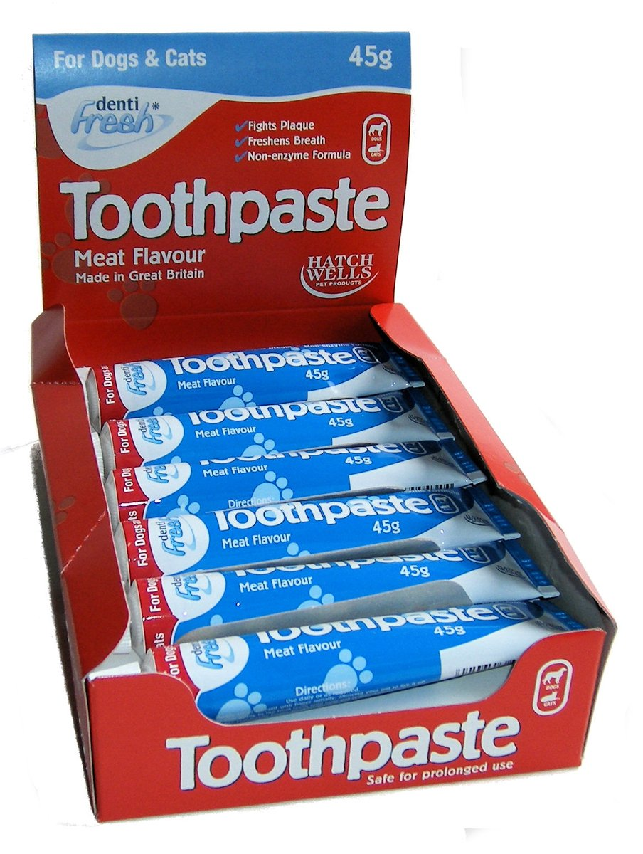 Hatchwells Dog & Cat Meat Flavour Toothpaste 45g 45g Bulk Deal of 12x