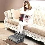 Aozzy piedi caldi con 4 livelli di temperatura, auto off, stuoie lavabili, Piedi caldi con calzature calde (grau)