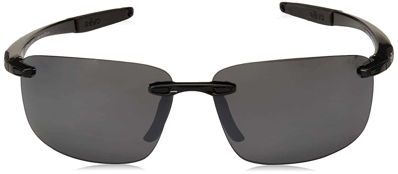 Revo Descend N RE4059-01 Polarized Rimless Sunglasses Black Frame Graphite Lens Revo Sunglasses RE 4059