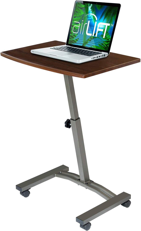 Seville Classics Mobile Height Adjustable Solid-Top Laptop Desk Cart, Flat (23.6