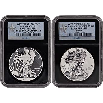West Point Two-Coin Set ER Retro NGC 70 2013-W American Silver Eagle