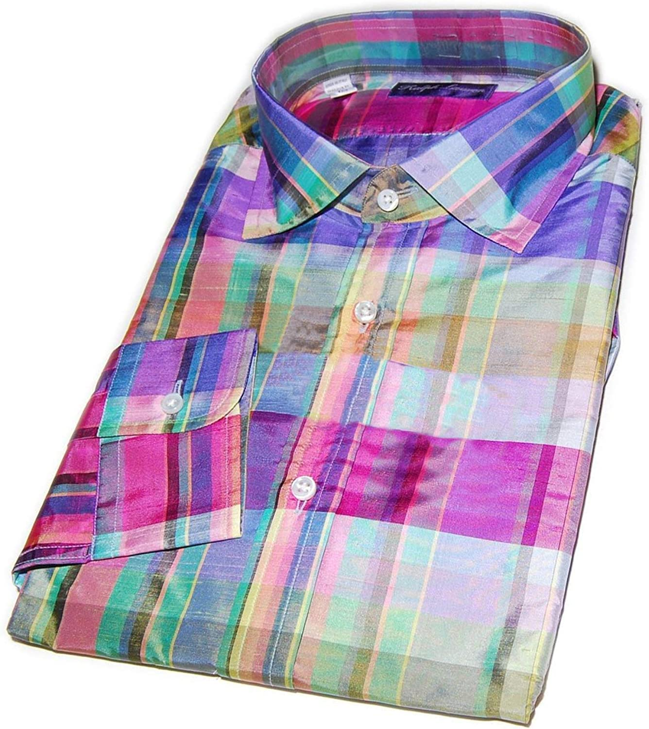 Ralph Lauren Purple Label Italy Mens Red French Cuff Button Down Dress Shirt New