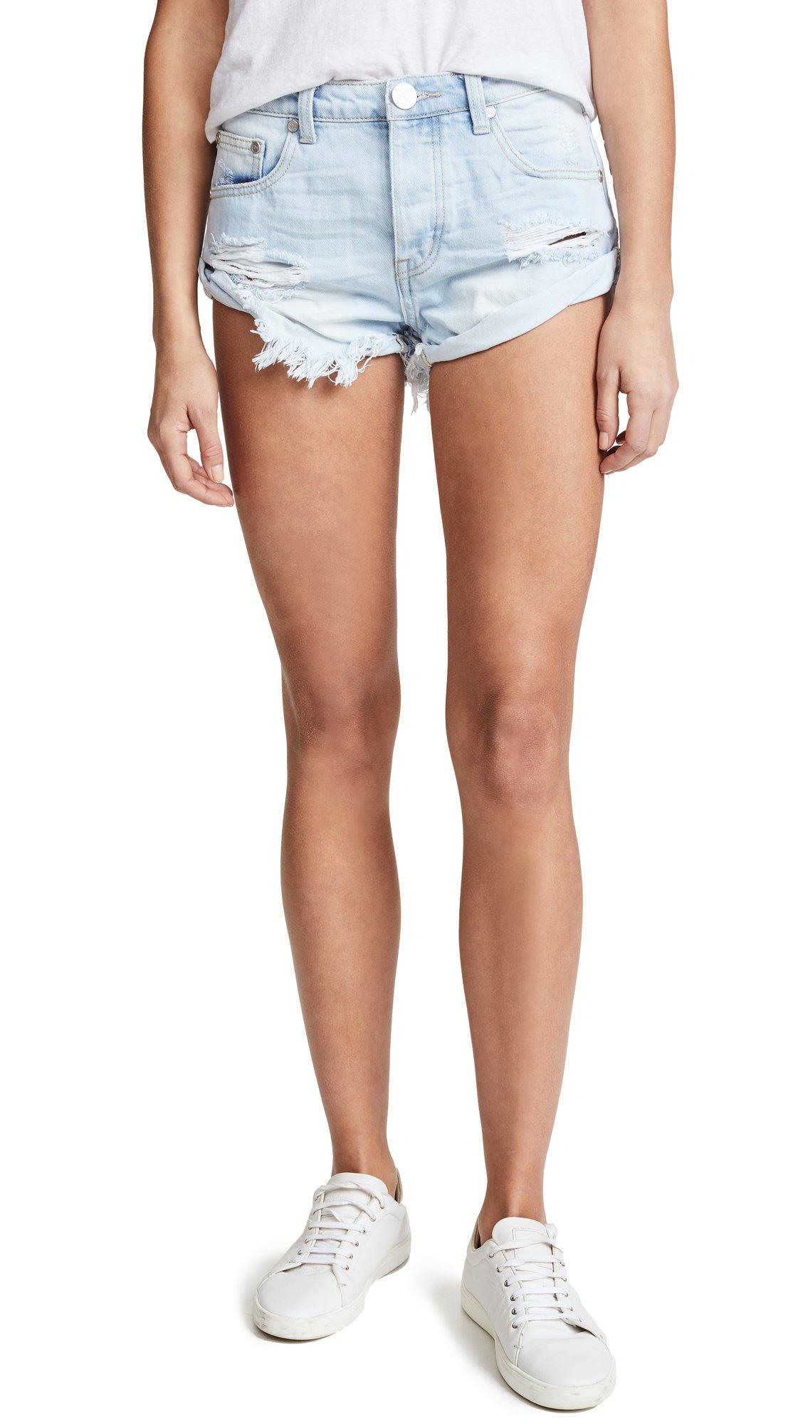 One Teaspoon Women's Wilde Bandits Shorts, Wilde, 30