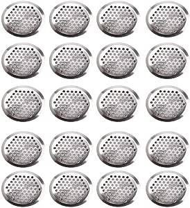 Zliger 18 Piezas Rejilla de Ventilaci/ón Acero Inoxidable Redondas de Malla Agujero para Gabinete Guardarropa Gabinete Del Zapato Agujero de Ventilaci/ón