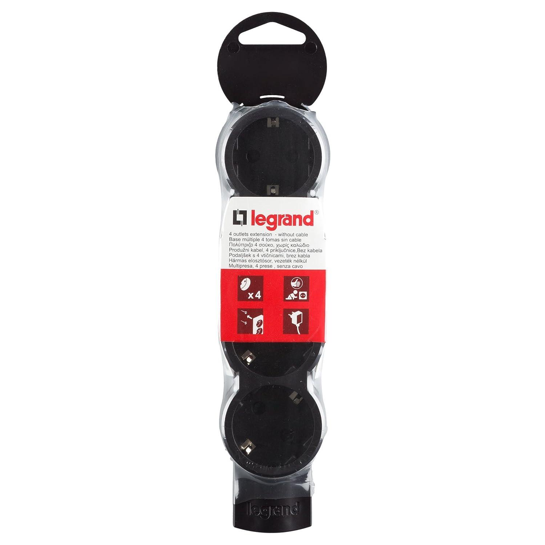 Legrand 4-fach Tischsteckdosenleiste Tischsteckdose Wandsteckdose ohne Kabel