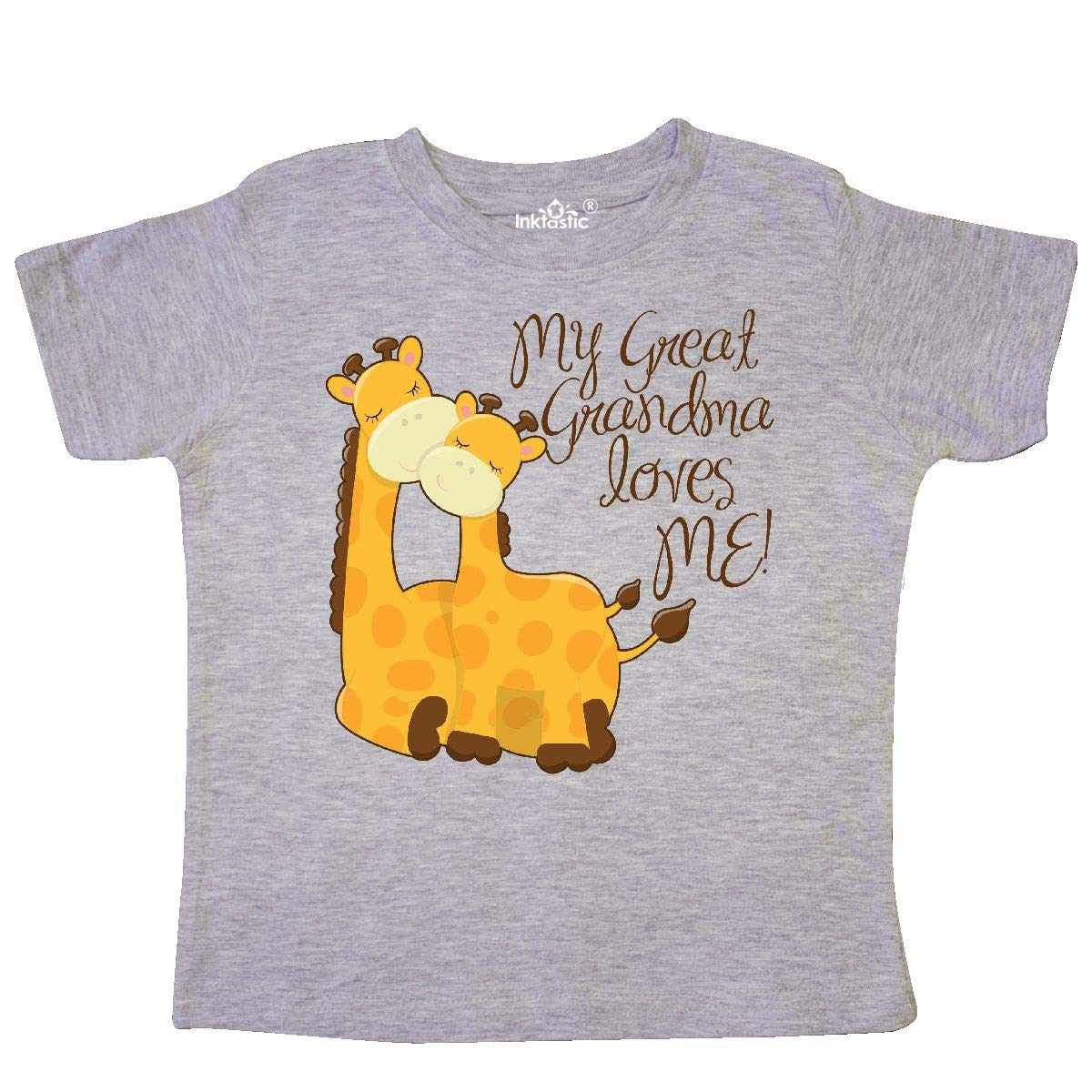 inktastic My Great Grandma Loves Me Toddler T-Shirt