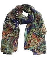 écharpe femme Ularmo Femmes en mousseline de soie longue en soie imprimé souple écharpe châle