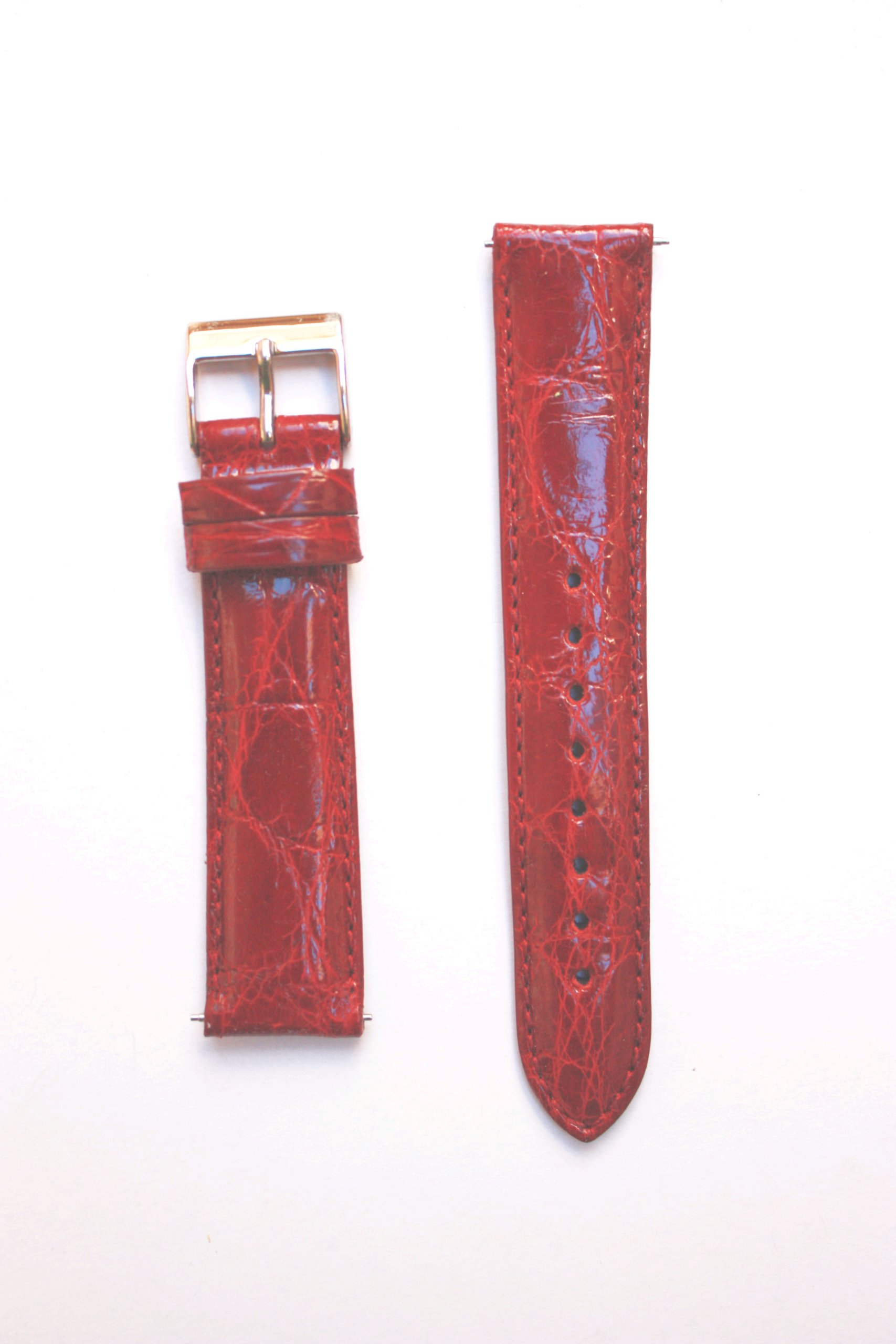 12mm Bordo Genuine Crocodile with Quick-Release Pins for Michele Style