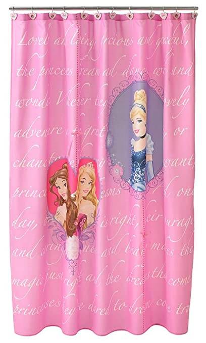 Image Unavailable Not Available For Color Disney Princess Pink Shower Curtain