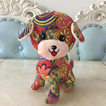 Toymio Peluche Fluffy Toys Peluche Animal Puppy para Home Decorations 2018 Festival de Primavera Chino Zodiac
