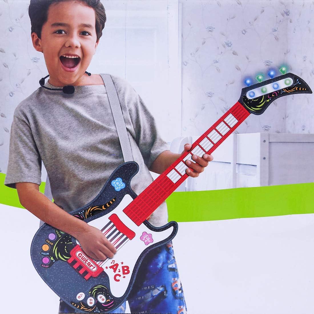MRKE Guitarra Electrica Niños con Microfono Rock Juguete de ...
