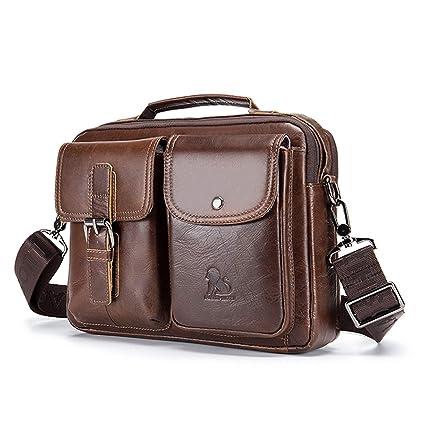 c745ce823356 UBAYMAX Men's Leather Messenger Satchel Bag, Small Shoulder ...