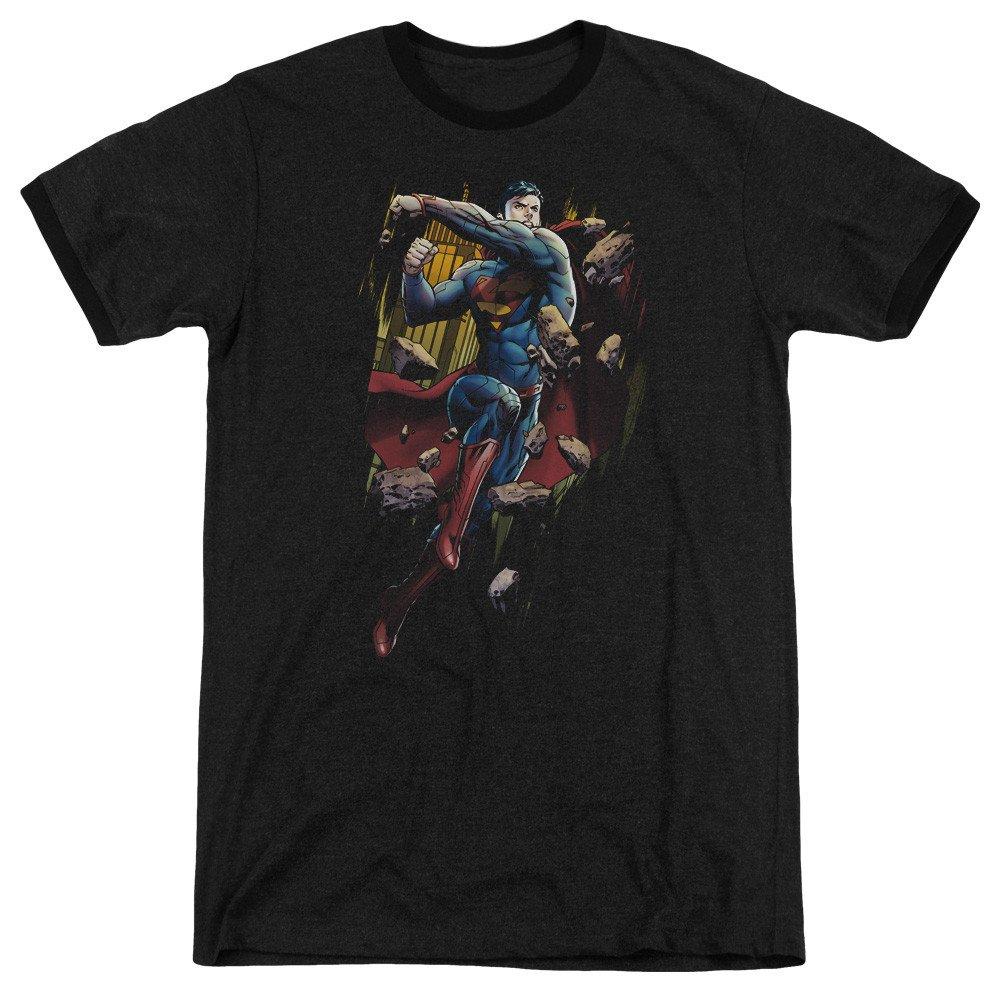 Shirt XL Flying Determination Adult Ringer T Sons of Gotham Superman