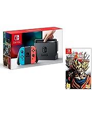Nintendo Switch Consola 32Gb Azul/Rojo Neón + Dragon Ball Xenoverse 2