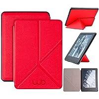 Capa Novo Kindle 10ª Geração WB® - Auto Hibernação Fecho Magnético Origami (Vermelha)
