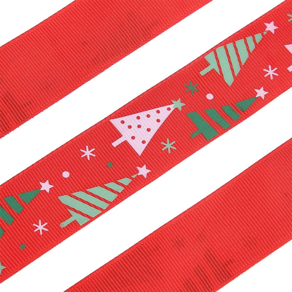 Christmas Tree Inch Wide Christmas DIY Gift Wrapping Decoration 50 Yard Ribbon 1