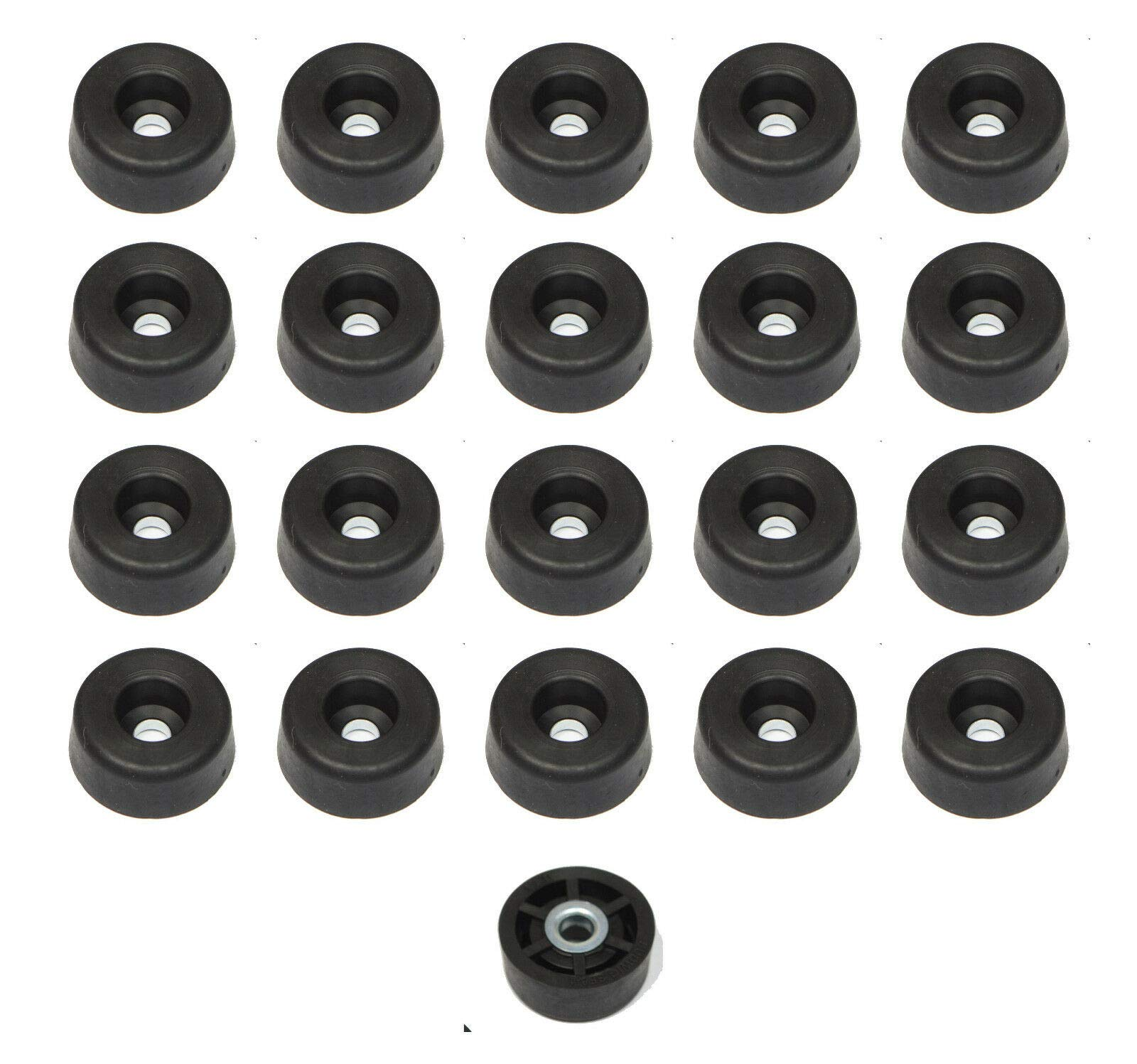 20 Medium Round #2 Rubber FEET .375 H X .875 W - Radio Made in USA- Free S&H
