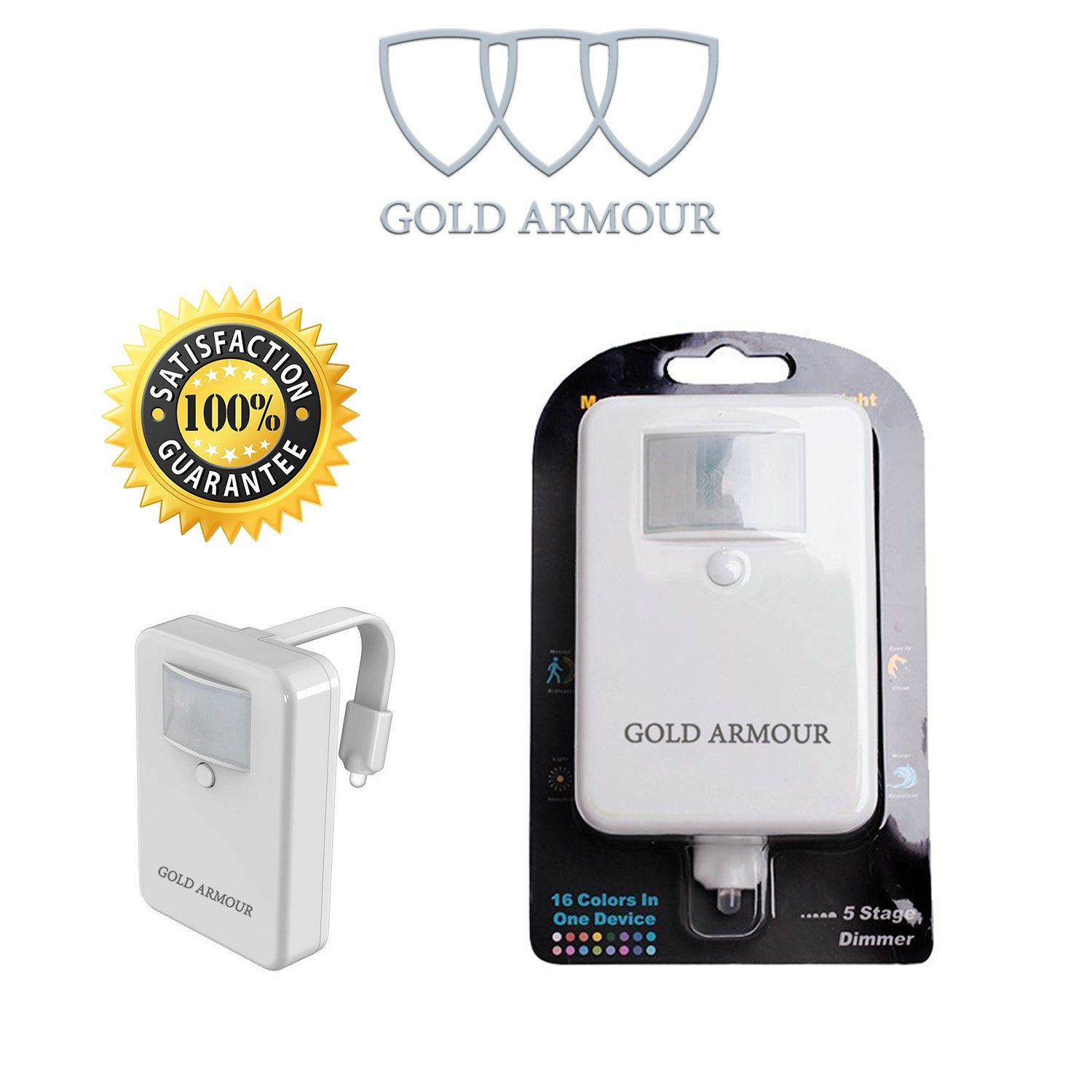 Toilet Night Light Gold Armour 16 Color Motion Sensor Colour They Emit During Normal Operation A Basic Can Be Led 5 Stage Dimmer Detection Great For Potty Training