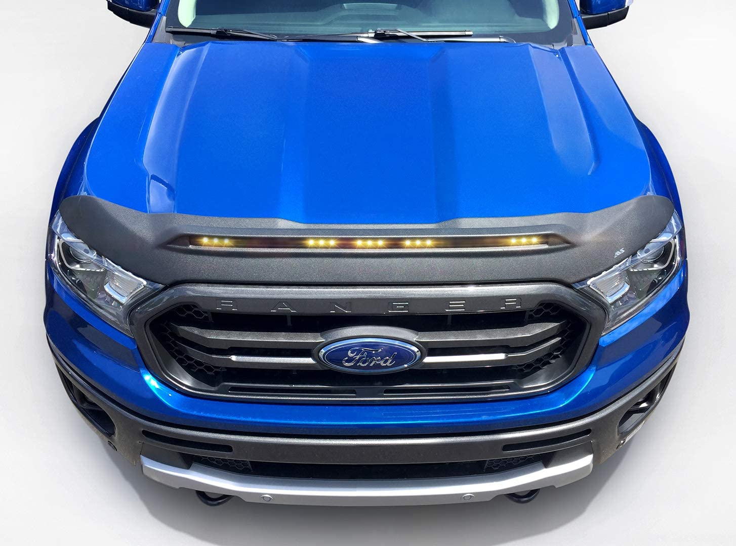 Auto Ventshade 436166 Aeroskin II Textured Black Flush Mount Hood Protector for 2019 Ford Ranger