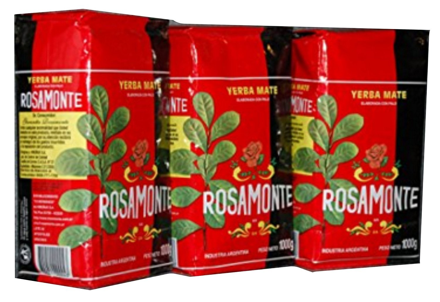 Yerba Mate Rosamonte 3 KG Argentina Green Tea Loose Leaf Bag Herbal 6.6 lb Fresh
