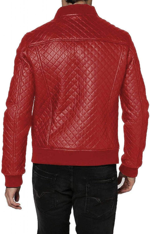 1501597 Laverapelle Mens Genuine Lambskin Leather Jacket Black, Bomber Jacket