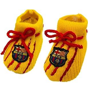Patucos Bebé FC Barcelona Talla: 0-3 Meses: Amazon.es: Bebé