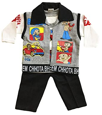 2f6a41dcba78 Miss U Baba Suit Cotton T-Shirt and Trouser Set with Jacket (Black ...