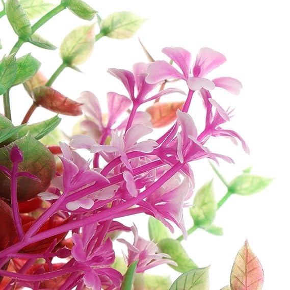 Jiamins Plantas Real de Agua de plástico Flor, Acuario Primer Plano Decor: Amazon.es: Productos para mascotas