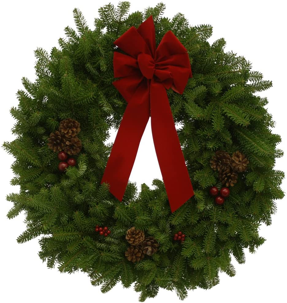 Worcester Wreath 30-Inch Classic Maine Balsam Wreath