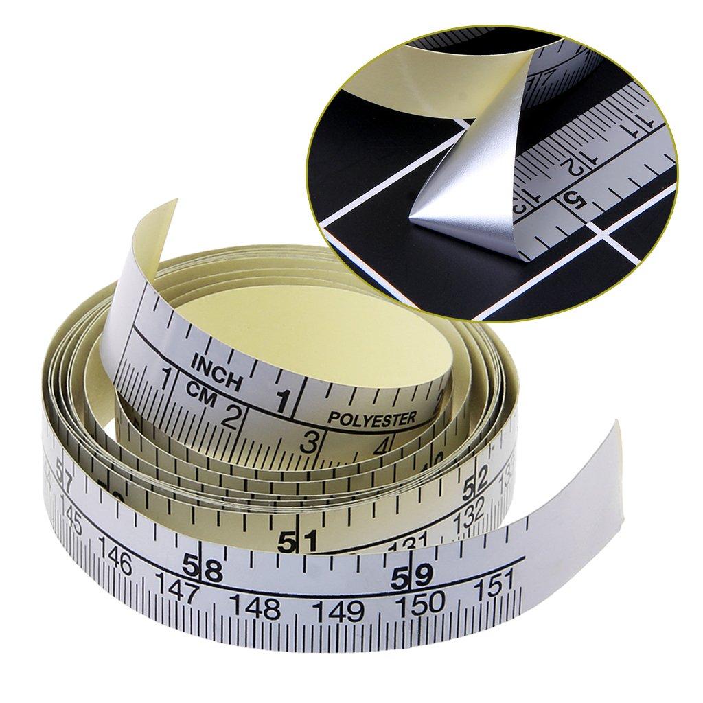 Kanitry 151cm Self Adhesive Metric Measure Tape Vinyl Ruler for Sewing Machine Sticker