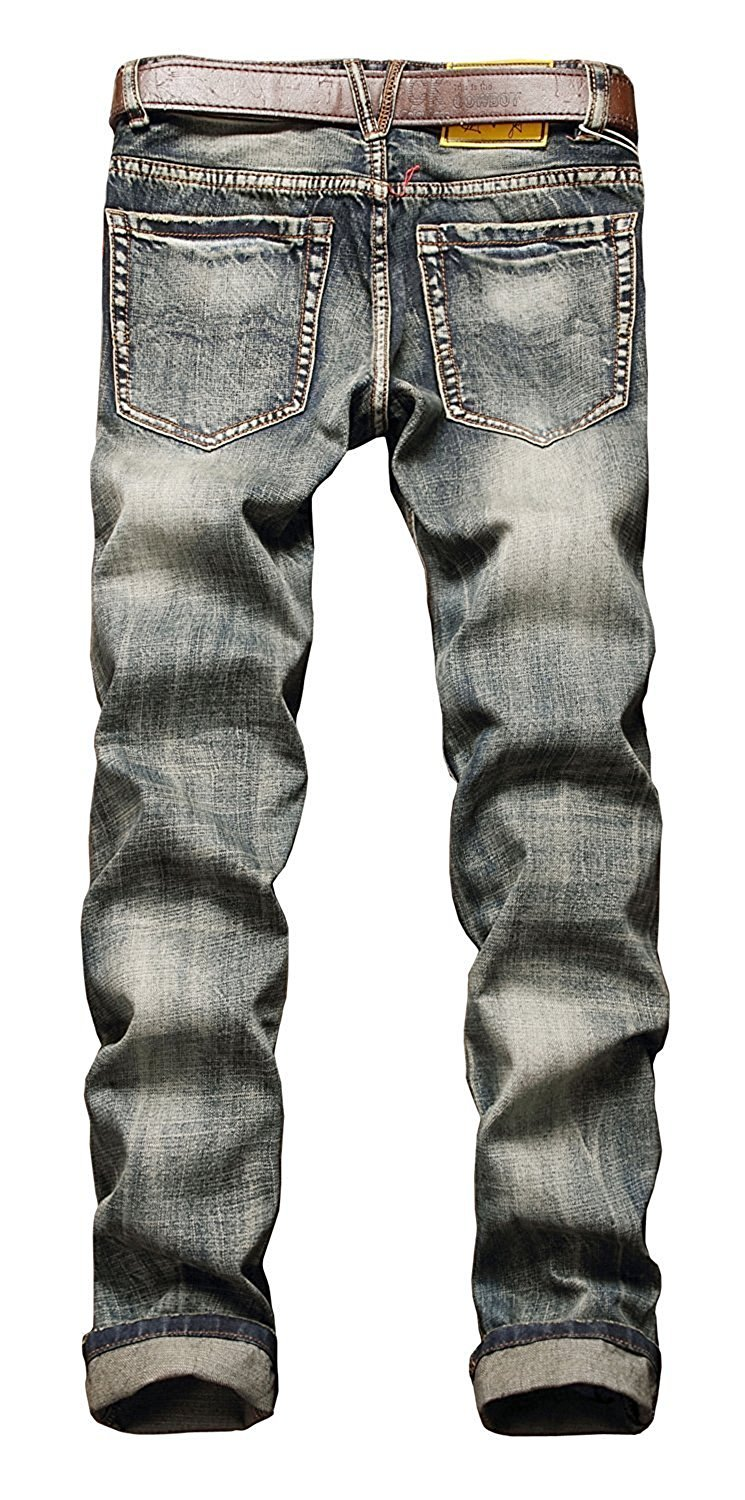 TOPING Fine Fashion;Handsome Men's Ripped Slim Fit Tapered Leg Jeans B-grey38Wx32L(Tag 40)