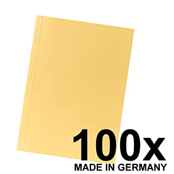 Schnellhefter Papphefter DIN A4-20 Stück Gelb
