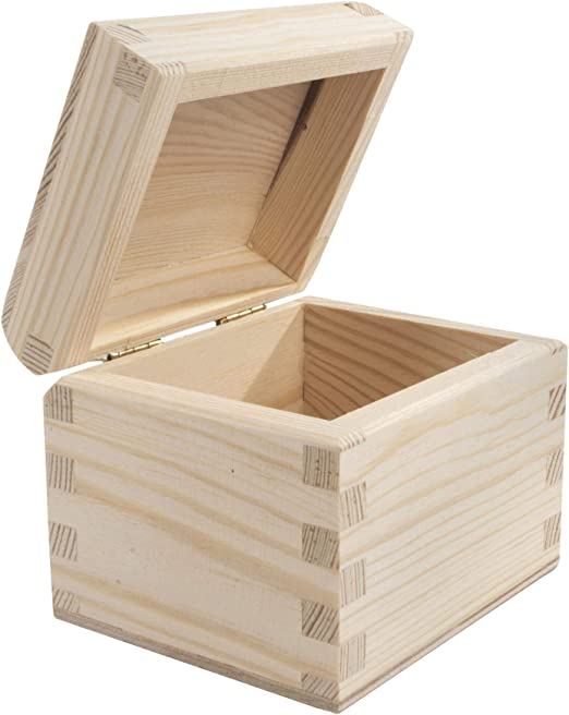 WooDeeDoo - Cajas rectangulares de pino, madera, natural, 9.5 x 8 ...
