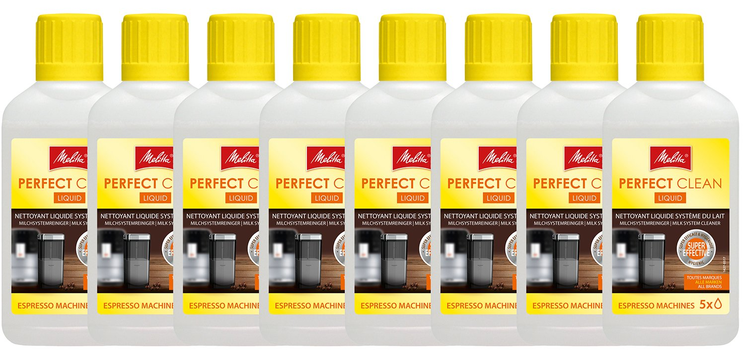 Melitta Perfect Clean Milk System Cleaner, 250 ml (Pack of 8)