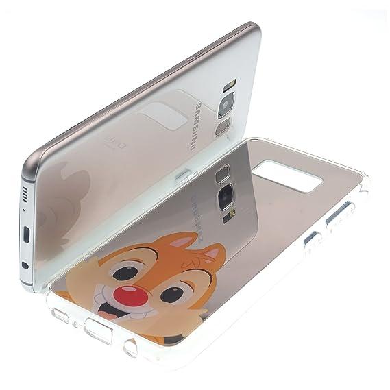 newest 6ed69 8764a Amazon.com: Galaxy S7 Edge Case, Disney Cute Dale Glitter Mirror ...