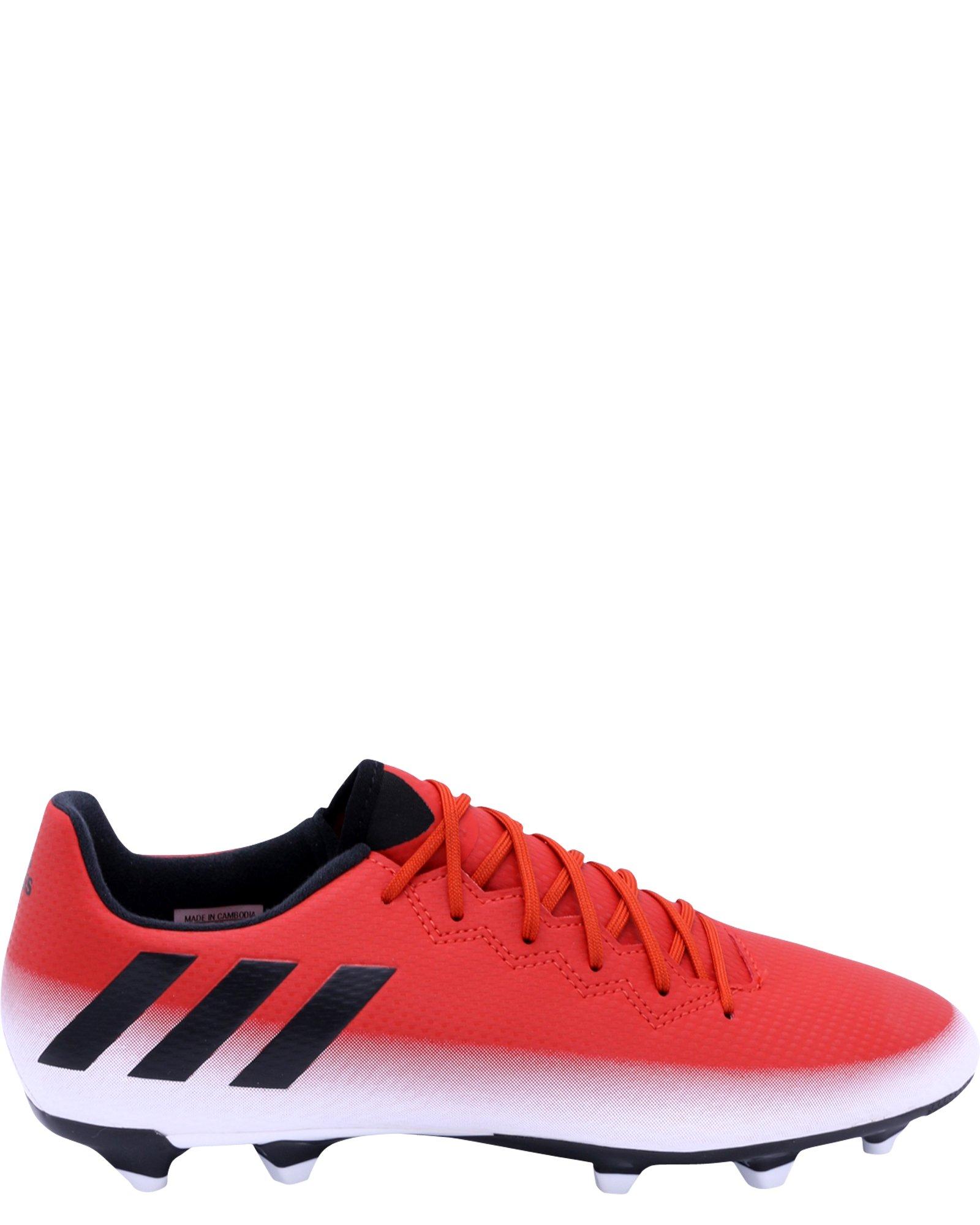 adidas Men's Messi 16.3 FG Soccer Shoe, Red/Black/White, (10 M US)