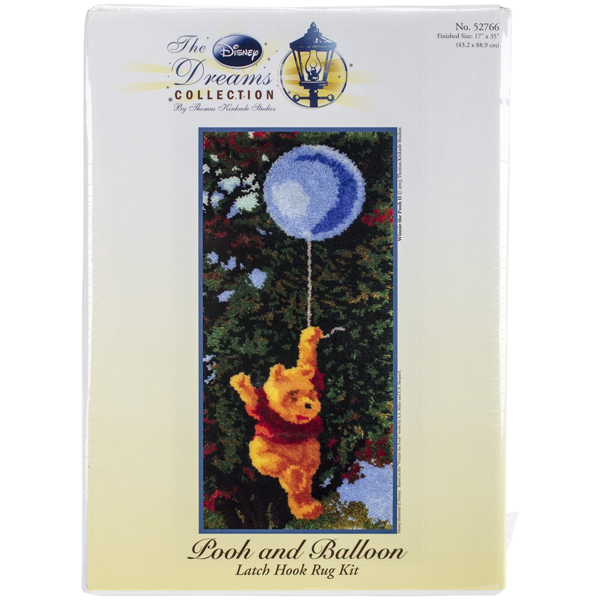 M.C.G. Textiles 52766 Pooh and Balloon Rug Disney Dreams Collection by Thomas Kinkade Latch Hook Kit, 17 by 36-Inch Notions