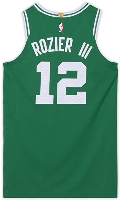 timeless design 82a4f 7950e Terry Rozier Boston Celtics Game-Used #12 Green Jersey vs ...