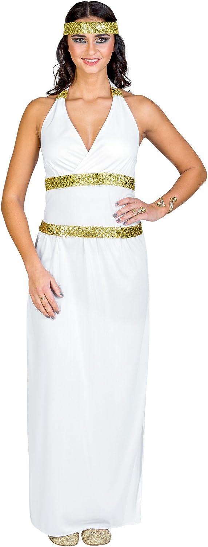 Fascia elastica per capelli con paillettes Dea Atena dressforfun Costume da donna Elegante abito lungo con allacciato al collo con profondo scollo a V S | no. 300206