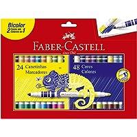 Canetinha Hidrográfica Bicolor 24 Canetas/48 Cores, Faber-Castell