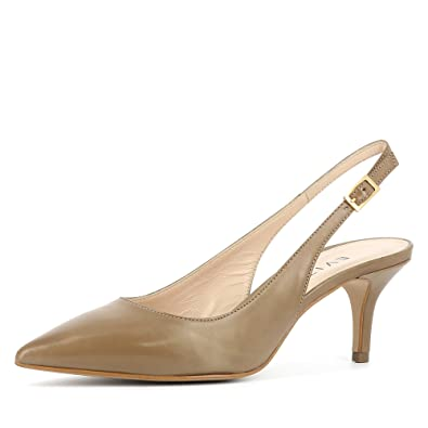 Evita Shoes Giulia Damen Sling Pumps Glattleder Fango 35